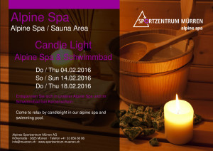 Candle Light Sauna Bad